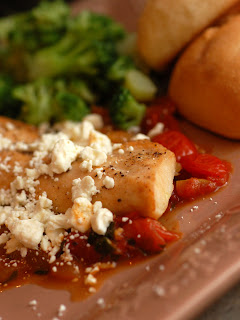 Sugar & Spice by Celeste: Broiled Mahi Mahi with Parsleyed Tomatoes