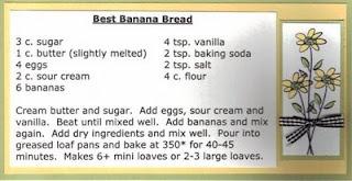 banana bread recipe card - photo #19