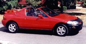 Honda Del Sol - the car that I drive to and from the city in.
