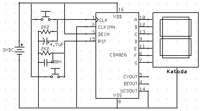Penghitung Digital Menggunakan Ic Cd 4026 Asyiknya