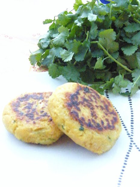 Easy Chickpea and Coriander Burgers