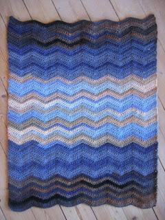 zigzag tæppe hæklet