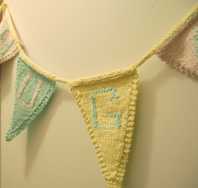 Bunting Knitting Pattern : Green Mountain Mama: Knitted Bunting: a pattern