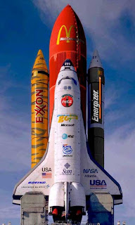 Nasa Sponsers of the Space Shuttle