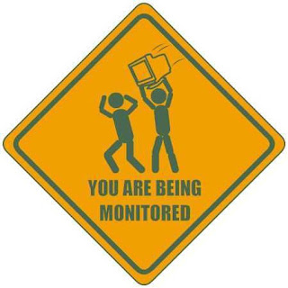 you are being monitored sign