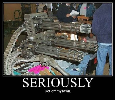 photo of a bunch of machine guns