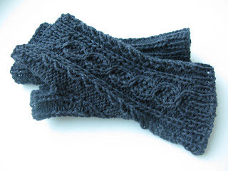 free cabled mitts knitting pattern