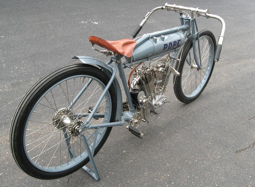 Picture Motorcycle 1914 Pope Board Track Racer