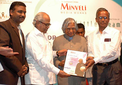 Mr K Balachandar, wellknown film director releaes the VCD in the presence of Dr Kalam