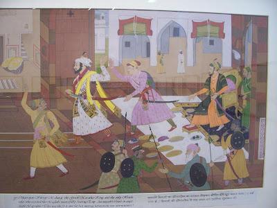 சத்ரபதி சிவாஜி அவுரங்கசீப் அவையிலிருந்து வெளியேறுகிறார்