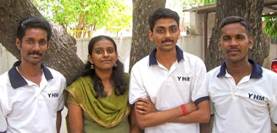 Kalam Nagappan, Poornima, Sathiyan and Ponmudi, Trustees of Young Helping Minds