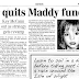 Sunday Express picks the Story after almost one month: Uncle quits Maddy Fund