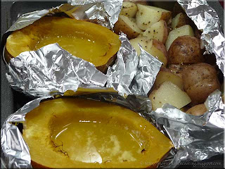 foil potato and squash packets