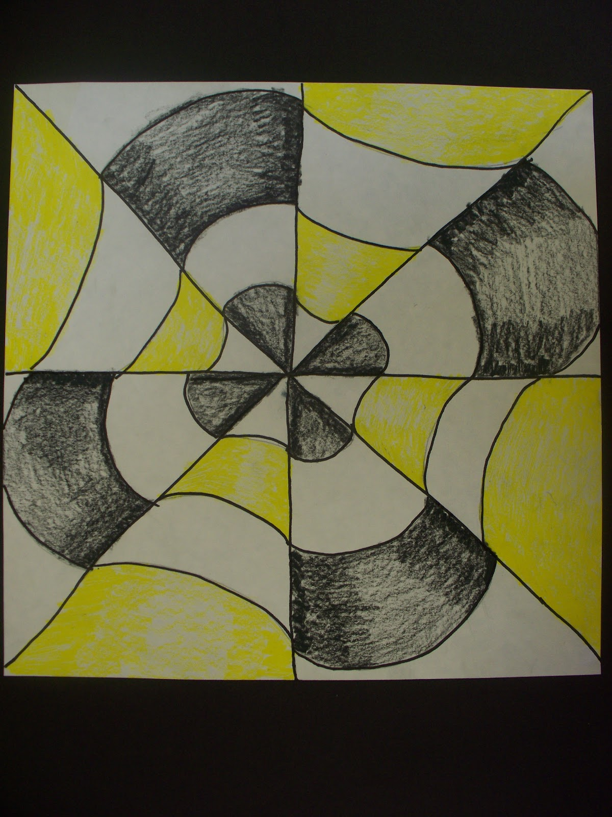 illusions optical creating drawing simple paper designs october graders these