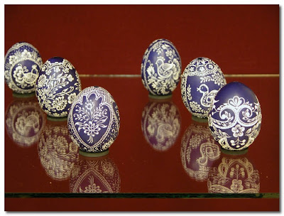 hand painted eggs from hungary