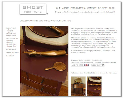ghost furniture dressing table