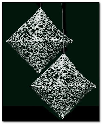 Plastic Bag Lace Diamonds by Laura Marsden