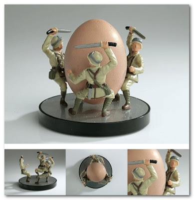 Battle on the Breakfast table. Egg Soldier Cup
