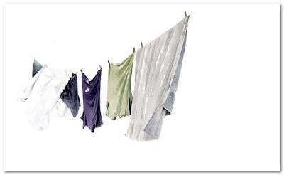 Miles Thistlethwaite Artist washing line
