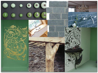 mood board for cottage extension