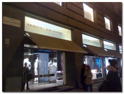 armani store in milan