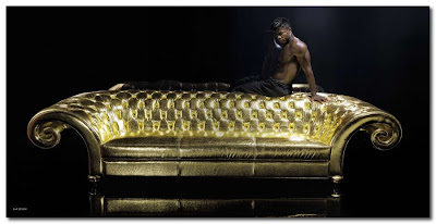 vg new trend italy gold sofa