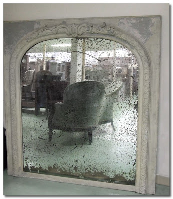 antique mirror decaying elegance