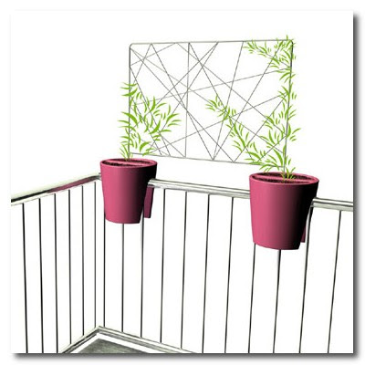 roof garden plant pots and screen Rephorm