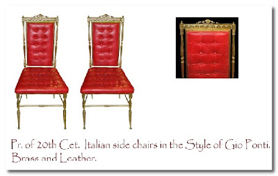 coco vintage italian chairs