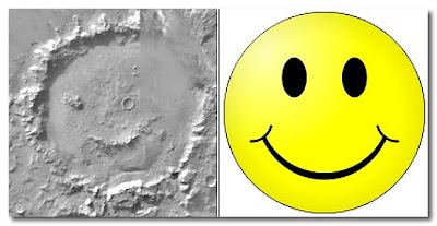 smiley face found on mars