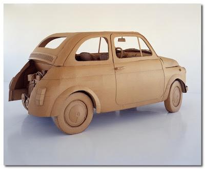 cardboard car by chris gilmour