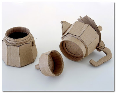 cardboard coffee pot by chris gilmour