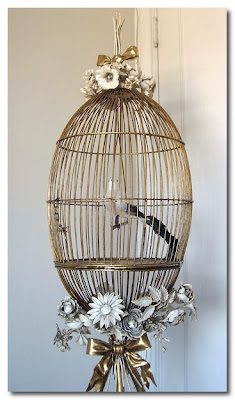 metal birdcage at paris hotel boutique