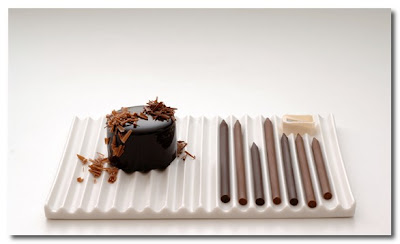 chocolate pencils by nendo japan