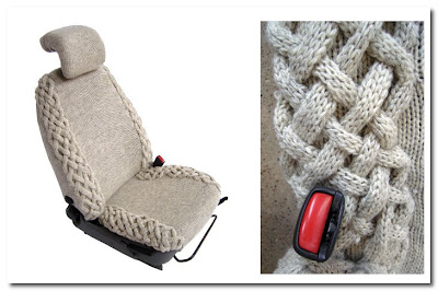 knitted car seat cover by gabriella Matheny