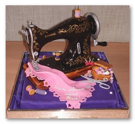 singer sewing machine cake