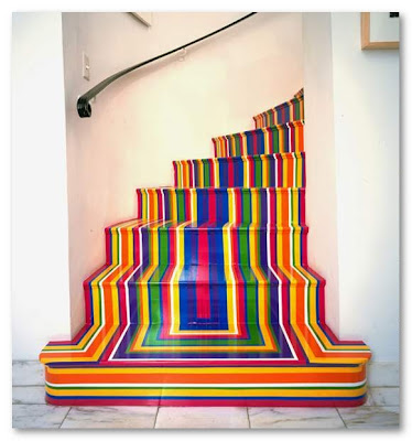 Colorful Painted Staircase