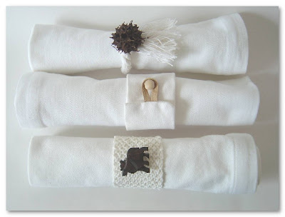Simplemente Blanco napkin rings