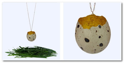 Stephanie Simek qual's egg necklace