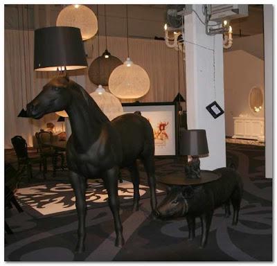mooi pig table and rabbit lamp at poaa