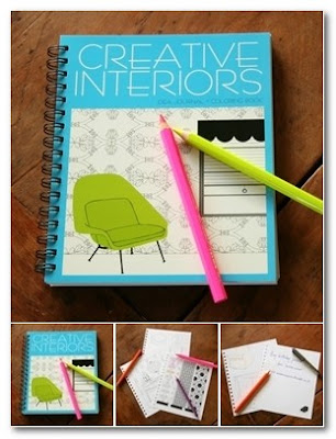 creative interiors colouring pad