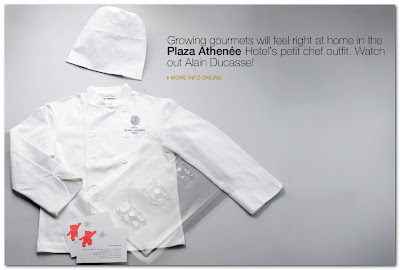 petit chef outfit Plaza Athenee