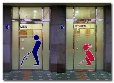 funny restroom sign