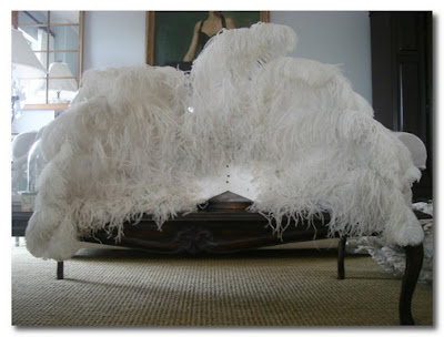 feather sofa french blue
