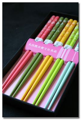 colourful chopsticks at rockett st george