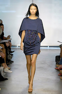 fashionphile: JEREMY LAING :  blue mini fashion runway
