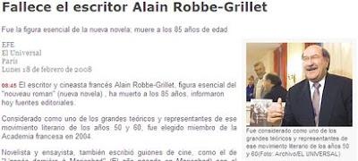 Skármeta por Robbe-Grillet