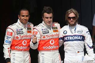 Alonso y Hamilton en la pole