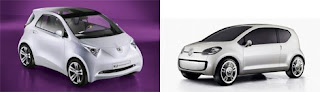hibridos toyota iQ y VW Up!