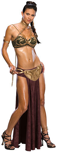 Yes I know its another excuse to post another picture of a model posing as Jabba Leia but come on! Do you blame us. I mean look at the quality on those ...  sc 1 st  The Bearded Trio & Star Wars Halloween Costumes - Jabba And Leia In Gold Bikini. No ...